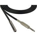 Sescom SC25SZSJZ Audio Cable Canare Star-Quad 1/4 TRS Balanced Male to 1/4 TRS Balanced Female Black - 25 Foot