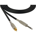 Sescom SC3SR Audio Cable Canare Star-Quad 1/4 Inch TS Male to RCA Male Black - 3 Foot