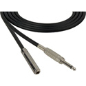 Sescom SC3SSJ Audio Cable Canare Star-Quad 1/4 TS Mono Male to 1/4 TS Mono Female Black - 3 Foot