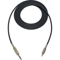 Sescom SC3SZMZ Audio Cable Canare Star-Quad 1/4 TRS Balanced Male to 3.5mm TRS Balanced Male Black - 3 Foot