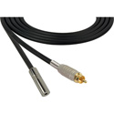 Canare Star-Quad Audio Cable RCA Male to 3.5mm TS Female 50 Foot - Black