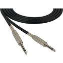Sescom SC50SS Audio Cable Canare Star-Quad 1/4 TS Mono Male to 1/4 TS Mono Male Black - 50 Foot
