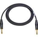 Sescom SC6SS/B Audio Cable Canare Star-Quad 1/4 Inch TS Male to 1/4 Inch TS Male Black - 6 Foot