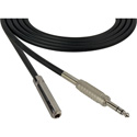 Sescom SC6SZSJZ Audio Cable Canare Star-Quad 1/4 TRS Balanced Male to 1/4 TRS Balanced Female Black - 6 Foot