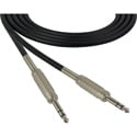 Sescom SC6SZSZ Audio Cable Canare Star-Quad 1/4 Inch TRS Male to Male Black - 6 Foot