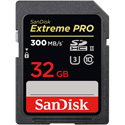 SanDisk SDSDXPK-032G-ANCIN Extreme Pro 32 GB SDHC - Class 10/UHS-II (U3) - 300 MB/s Read - 260 MB/s Write PRO SD 300/26