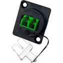 Senko UBC-131 UBC Adapter Panel LC Duplex APC (Green) Fibre Optic Adapter
