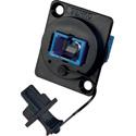 Senko UBC-211 SC Simplex Singlemode Panel Mount Fiber Optic Adapter - Blue