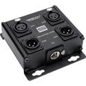 Sescom SES-4X2F2M-CATBX 4 Channel Passive Balanced Audio Extender over CAT5/6/7 - RJ45 to 2 Female & 2 Male XLR
