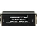 Sescom SES-AES-EBU-2 BNC Female to 3-Pin XLR Male AES/EBU Impedance Transformer