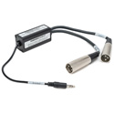 Sescom AUD-TRS-BAL Stereo Unbalanced Audio to Balanced Converter 3.5mm TRS To Left & Right Male XLRs
