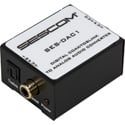 Sescom SES-DAC1 Audio Converter-Digital Coax or TOSLINK to Stereo Analog L/R RCA