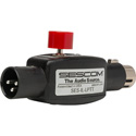 Sescom IL-LPTT Inline XLR Push-To-Talk with Phantom/Live LED