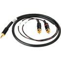 Sescom SES-IPOD-RCA03 3.5mm Mini Stereo Plug to Dual RCA Male Plugs - 3 Foot