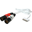Sescom SES-IPOD2-AUDIO iPod Dock Connector to Left & Right XLR Male