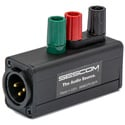 Sescom SES-MKP-23 Professional Line Tap Adapter 3-Pin XLR Male to 3 Binding Post