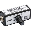 Sescom SES-MKP-31 Single Channel In-Line Balanced Audio Level Control with 1/4 Inch Connectors