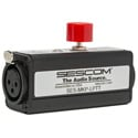 Sescom Inline Rugged XLR Push-To-Talk Latching Button PTT With Phantom-Power/Live LED