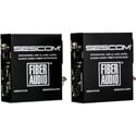 Sescom X-FA2 Portable Battery Operated 2-Channel Mic & Line Level Audio Over Single Fiber Extender Kit