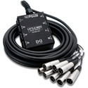 Hosa SH-8X0-25 Pro-Conex Little Bro Sub Snake 8 x XLR Sends and no Returns 25 ft