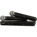 Shure BLX288/B58-H9 Dual-Channel Wireless Handheld Microphone System with Beta 58A Capsules - 512 to 542 MHz