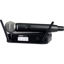 Shure GLXD24/SM58 Handheld Wireless System with SM58 - Li-ion Battery Included