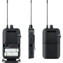 Shure P3R-G20 Wireless Bodypack Receiver for PSM300 In Ear Monitor System - G20 Frequency 488-512 MHz