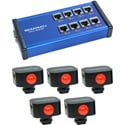 Skaarhoj SKA-ETH-TALLY-LINK-V2-X5 8 channel Tally Box plus 5 x Tally Lights Bundle
