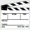 SLT-13 Director Slate Clapboard - White Film Slate with Black & White Sticks