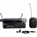 Shure SLXD124/85-G58 WL185 Cardioid Lavalier & SM58 Handheld Combo Wireless Mic System - 470-514Mhz