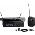 Shure SLXD124 / 85-G58 WL185 Cardioid Lavalier & SM58 Handheld Combo Wireless Mic System - 470-514Mhz