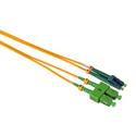 Camplex SMD9-ASC-ALC-003  APC SC to APC LC Singlemode Duplex Fiber Optic Patch Cable  - Yellow - 3 Meter