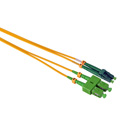 Camplex SMD9-ASC-ALC-005  APC SC to APC LC Single Mode Duplex Fiber Optic Patch Cable  - Yellow - 5 Meter