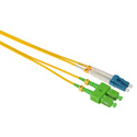 Camplex SMD9-ASC-LC-001  APC SC to UPC LC Single Mode Duplex Fiber Optic Adapter Cable  - Yellow - 1 Meter