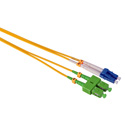 Camplex SMD9-ASC-LC-003  APC SC to UPC LC Single Mode Duplex Fiber Optic Adapter Cable  - Yellow - 3 Meter