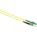 Camplex SMS9-ALC-ST-001 APC LC to UPC ST Singlemode Simplex Fiber Optic Adapter Cable  - Yellow - 1 Meter