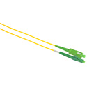 Camplex SMS9-ASC-ALC-001 APC SC to APC LC Singlemode Simplex Fiber Optic Patch Cable  - Yellow - 1 Meter
