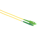 Camplex SMS9-ASC-LC-001  APC SC to UPC LC Single Mode Simplex Fiber Optic Adapter Cable  - Yellow - 1 Meter