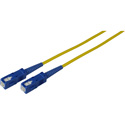 50-Meter 9u/125u Fiber Optic Patch Cable Single Mode Simplex SC to SC - Yellow