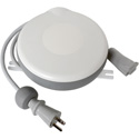 Stage Ninja MED-10-FEM Hospital Grade Power Cable - Retractable Reel with Static Female Tap - Gray - 10 Foot
