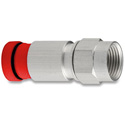 Snap-N-Seal F Connector with Red Sleeve
