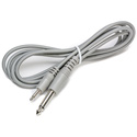 Connectronics 1/4in Mono Male-Mini Mono Male Molded Audio Cable 6Ft