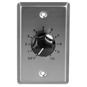 Speco WAT10 10W 70/25 Volt Wall Plate Volume Control - Silver & Black