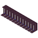 RDL SR-12A Stick-On Series 19in Mounting Rack - 12 Modules