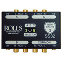 Rolls SS32 Mini Route 3 Stereo 3-Way Switch or 1:3 DA Combo With RCA Connectors