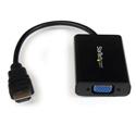 StarTech HD2VGAA2 HDMI to VGA Video Adapter Converter w/Audio for Desktop PC