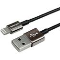 Startech USBLTM1MBK 3ft Metal Lightning Cable - Apple MFi Certified