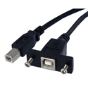 Startech USBPNLBFBM1 1ft Panel Mount USB Cable B to B -F/M