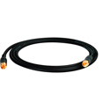 Sescom SUB-RR-3 Subwoofer Speaker Cable RCA Male to RCA Male Hi Clarity Black - 3 Foot