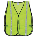 Lime Safety Vest with Reflective Striping- Large